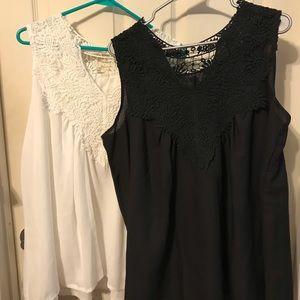 White tunic and black tunic